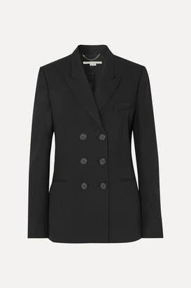 Stella McCartney Double-breasted Wool-twill Blazer - Black