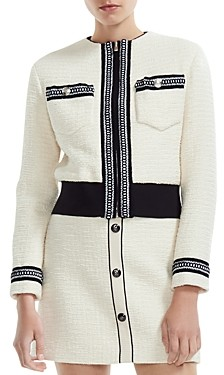 Maje Boppy Cropped Tweed Jacket
