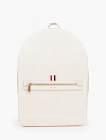 Thom Browne Cream Pebblegrain Leather Backpack