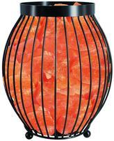 Himalayan Glow 8.3 in. Ionic Crystal Natural Salt Oval Basket Lamp