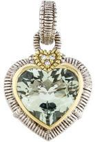 Judith Ripka Prasiolite & Diamond Heart Pendant