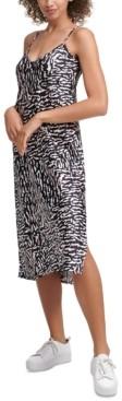 Calvin Klein Jeans Printed Slip Dress