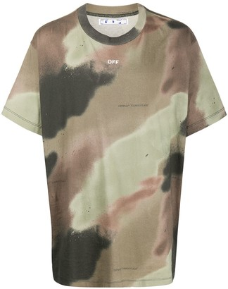Off-White Camouflage Stencil T-shirt