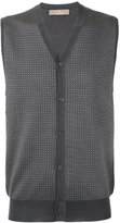 Cruciani geometric pattern vest - men - Silk/Cashmere - 50