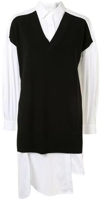 Enfold Colour-Block Oversized Shirt