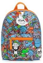 Babymel BabymelTM Zip & Zoe Robot Faces Mini Backpack in Blue