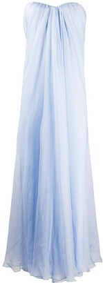 Alexander McQueen Draped Details Long Dress