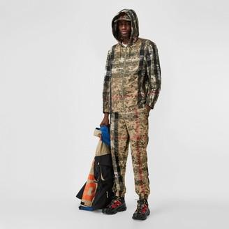 Burberry Camouflage Check Nylon Trackpants