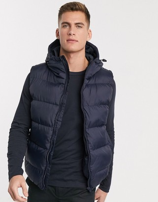 French Connection padded hooded vest