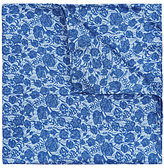 Jaeger Floral Silk Pocket Square, Blue