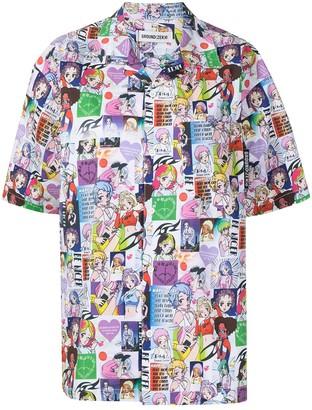 Ground Zero Manga Print Shirt