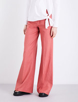 Red Linen Pants - ShopStyle