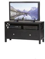 Linon Elsa TV Stand, Ebony with Rub Thru