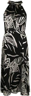 Milly Adrian palm satin dress
