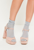Missguided Grey Slinky Ankle Socks