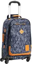 Pottery Barn Teen Northfield Navy Feather Rolling Suitcase