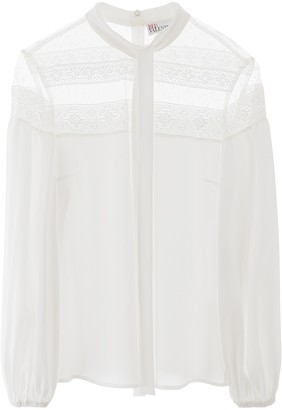 RED Valentino Lace Insert Blouse
