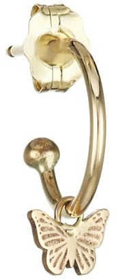 Zoë Chicco 14K Yellow Gold Butterfly Huggie Hoop Earring