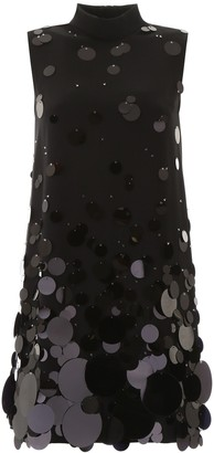 Prada High Neck Sleeveless Sequin Dress