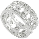 Journee Collection 1 1/6 CT. T.W. Round-cut CZ Bezel Set Wide Band Ring in Sterling Silver - Silver