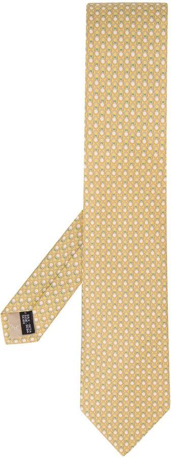 Salvatore Ferragamo All Over Logo Print Tie