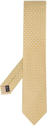 Salvatore Ferragamo All Over Logo Print Tie