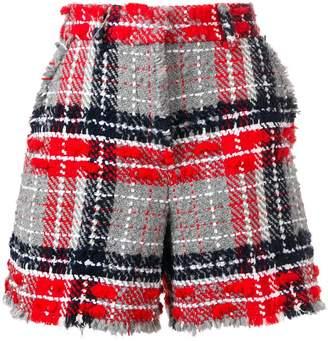 Thom Browne Oversized Tweed High Waist Shorts