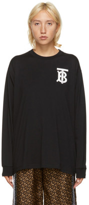 Burberry Black TB Monogram Atherton Sweatshirt
