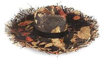 Etro Printed Raffia Sun Hat