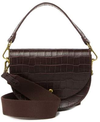 Madewell Small Richmond Croc Embossed Leather Saddle Bag