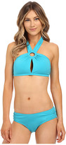 Michael Kors Drapey Jersey High Neck Two-Piece w/ Removable Cups