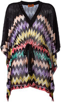 Missoni drawstring zigzag blouse - women - Rayon - 42