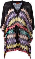 Missoni drawstring zigzag blouse
