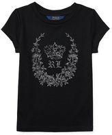 Ralph Lauren Cap-Sleeve Jersey Graphic Tee
