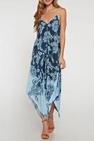 Love Stitch Lovestitch Border Print Scarf Dress