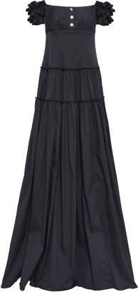Caroline Constas Off-the-shoulder Cotton-blend Poplin Gown