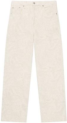 Ganni x Levis floral print straight-leg jeans