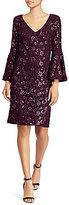 Lauren Ralph Lauren Sequined Bell-Sleeve Dress
