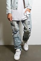 Forever 21 FOREVER 21+ Dope Distressed Underlay Jeans