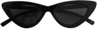 Adam Selman Black Plastic Sunglasses