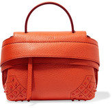 Tod's Wave Micro Textured-leather Tote - Orange
