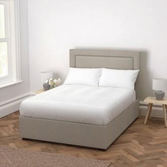 The White Company Cavendish Wool Bed - Headboard Height 130cm, Light Grey Wool, King