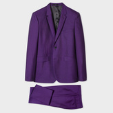Paul Smith Men's Slim-Fit Purple Wool And Mohair-Blend Travel Suit