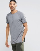 Asos Loungewear Longline Skater T-Shirt With Side Splits