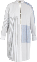 Acne Studios Elo patchwork cotton shirtdress