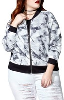 Plus Size Women's Mblm By Tess Holliday Mesh Bomber Jacket