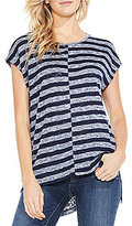 Vince Camuto Two By Uneven Striped Tee