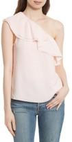 Rebecca Taylor Women's One-Shoulder Silk Top