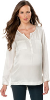 A Pea in the Pod Patch Pocket Maternity Shirt