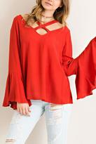 Entro Wide V-Neck Blouse